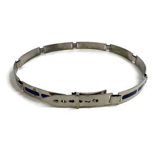 Accessories - Mid Century Silver Italian Belt Made in Italy